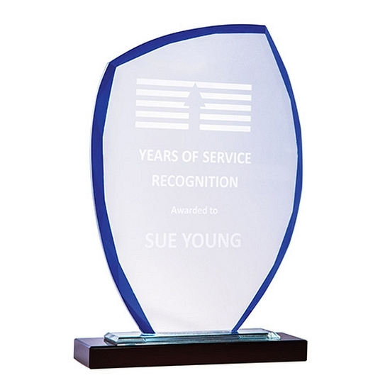 Blue Sail Glass Trophy