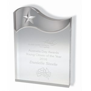 Prestige Acrylic Wave Award -individually gift boxed