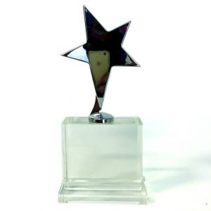 Chrome Star on Crystal Base